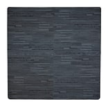 Tadpoles 12 Piece Wood Grain Playmat; Black