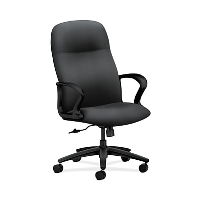 HON HON2071NR10T Gamut Onyx Upholstery Executive High-Back Office/Computer Chair with Fixed Arms