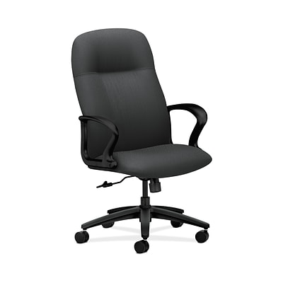 HON HON2071NT19T Gamut Executive High-Back Office/Computer Chair, Fixed Arms, Charcoal Fabric