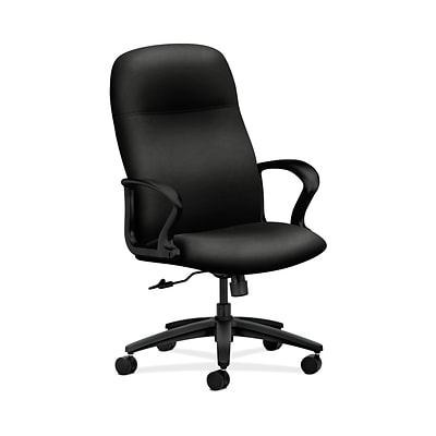 HON HON2071WP40T Gamut Fabric-Upholster Executive High-Back Office/Computer Chair, Fixed Arms, Black
