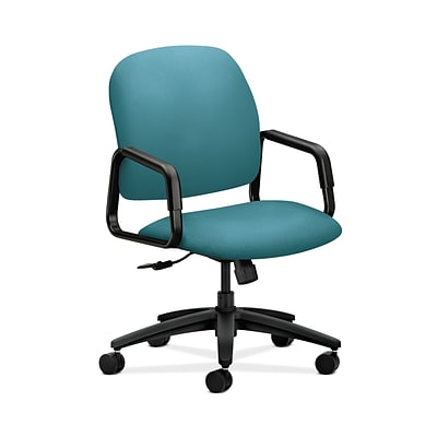 HON HON4001CU96T Solutions Seating Fabric-Upholster High-Back Office/PC Chair, Fixed Arms, Glacier