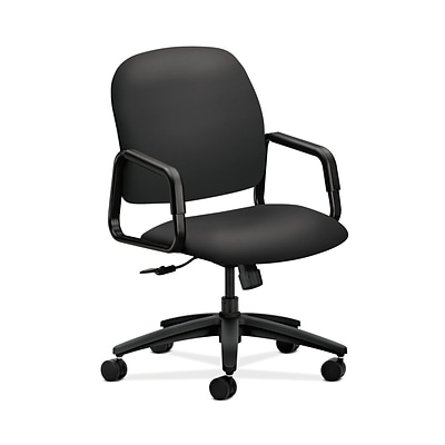 HON HON4001SX23T Solutions Seating Fabric-Upholster High-Back Office/PC Chair, Fixed Arms, Carbon