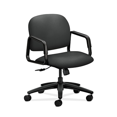 HON HON4002CU19T Solutions Seating Mid-Back Office/Computer Chair, Fixed Arms, Iron Ore Fabric