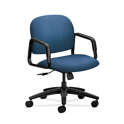 HON HON4002NR90T Solutions Seating Mid-Back Office/Computer Chair, Fixed Arms, Regatta Fabric