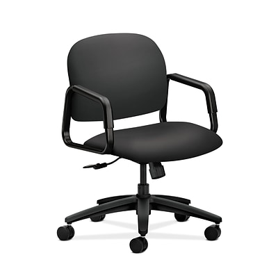 HON Solutions Seating HON4002SX23T Fabric Mid-Back Office/Computer Chair, Fixed Arms, Carbon