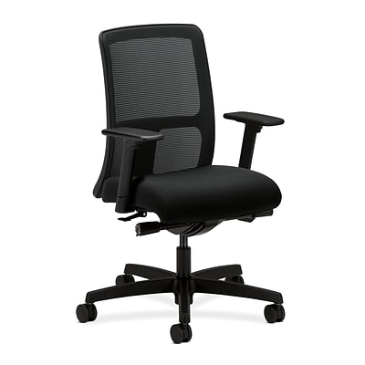 HON HONIT102AB10 Ignition Black Mesh Low-Back Office/Computer Chair with Adjustable Arms