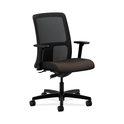 HON HONIT102CU49 Ignition Fabric-Upholster Mesh Low-Back Office/Computer Chair, Adj. Arms, Espresso