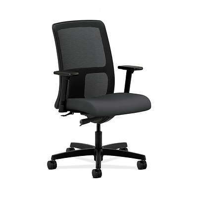 HON HONIT102SX23 Ignition Mesh Low-Back Office/Computer Chair, Adjustable Arms, Carbon Fabric