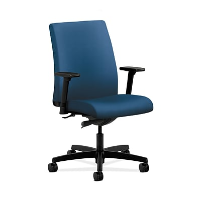 HON HONIT103NR90 Ignition Low-Back Office/Computer Chair, Adjustable Arms, Regatta Fabric