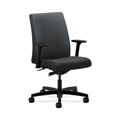 HON HONIT103NT19 Ignition Low-Back Office/Computer Chair, Adjustable Arms, Charcoal Fabric
