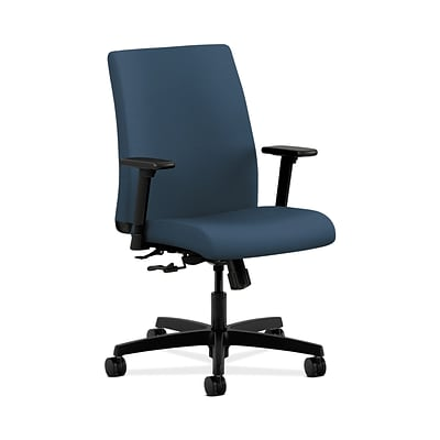 HON Ignition HONIT105SX05 Fabric Low-Back Office/Computer Chair, Adjustable Arms, Jet