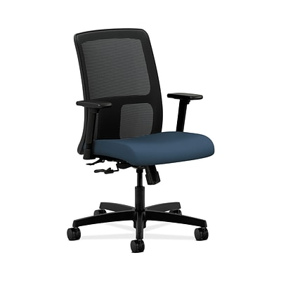 HON HONIT106SX05 Ignition Fabric-Upholster Mesh Low-Back Office/Computer Chair, Adjustable Arms, Jet