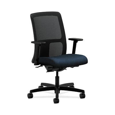 HON Ignition HONIT201AB90 Fabric Seat Mesh Low-Back Office/Computer Chair, Adjustable Arms, Blue