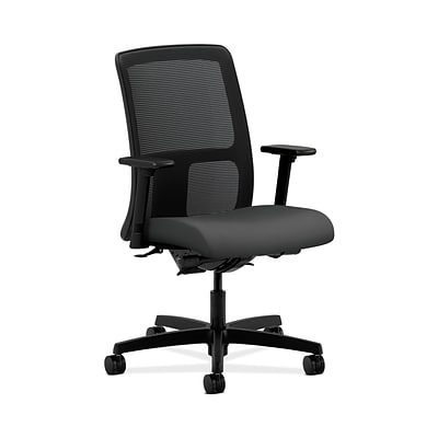 HON HONIT201CU19 Ignition Mesh Low-Back Office/Computer Chair, Adjustable Arms, Iron Ore Fabric