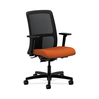HON HONIT201CU46 Ignition Fabric-Upholster Mesh Low-Back Office/Computer Chair, Adj. Arms, Tangerine