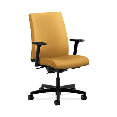 HON HONIT202NR26 Ignition Low-Back Office/Computer Chair, Adjustable Arms, Mustard Fabric