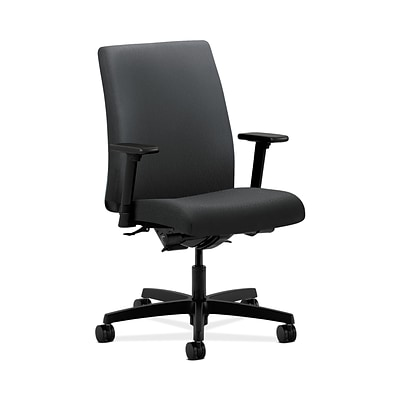 HON HONIT202NT19 Ignition Low-Back Office/Computer Chair, Adjustable Arms, Charcoal Fabric