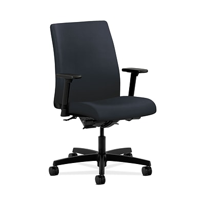 HON Ignition HONIT202WP37 Fabric Low-Back Office/Computer Chair, Adjustable Arms, Navy Fabric