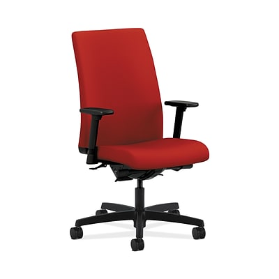 HON HONIW104CU66 Ignition Mid-Back Office/Computer Chair, Adjustable Arms, Tomato Fabric