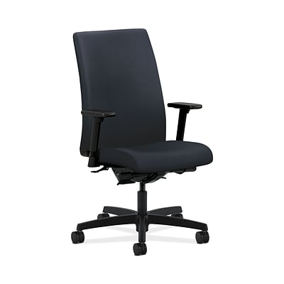 HON Ignition HONIW104WP37 Fabric Mid-Back Office/Computer Chair, Adjustable Arms, Navy