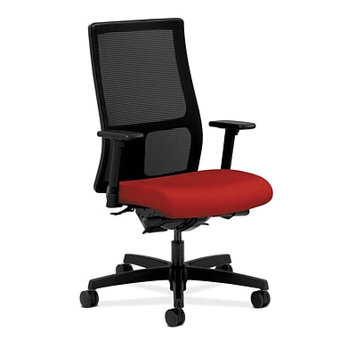 HON HONIW108CU66 Ignition Mesh Mid-Back Office/Computer Chair, Adjustable Arms, Tomato Fabric
