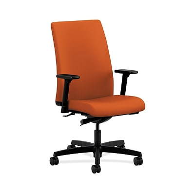 HON HONIW114CU46 Ignition Mid-Back Office/Computer Chair, Adjustable Arms, Tangerine Fabric