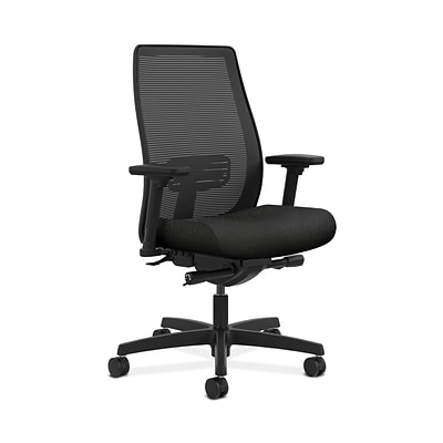 HON HONLWIM2ANT10 Endorse Collection Mesh Mid-Back Office/Computer Chair, Adj. Arms, Black Fabric