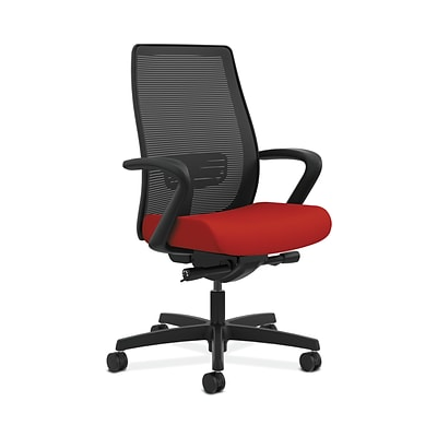 HON HONLWIM2FCU66 Endorse Collection Mesh Mid-Back Office/Computer Chair, Fixed Arms, Tomato Fabric