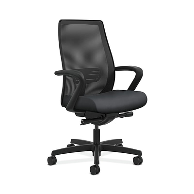 HON HONLWIM2FNR10 Endorse Collection Mesh Mid-Back Office/Computer Chair, Fixed Arms, Onyx Fabric