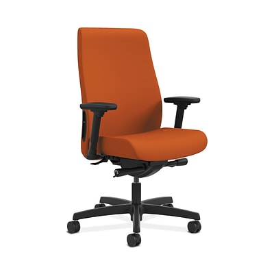 HON HONLWU2ACU46 Endorse Collection Fabric-Upholster Mid-Back Office/PC Chair, Adj. Arms, Tangerine