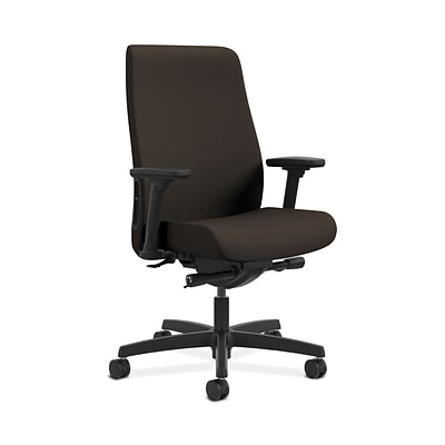 HON Endorse Collection HONLWU2ACU49 Fabric Mid-Back Office/Computer Chair, Adjustable Arms, Espresso