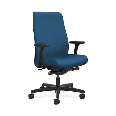 HON HONLWU2ANR90 Endorse Collection Fabric-Upholster Mid-Back Office/PC Chair, Adj. Arms, Regatta