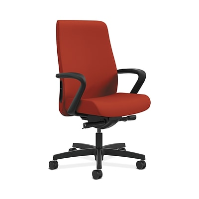 HON HONLWU2FCU42 Endorse Fabric-Upholster Collection Mid-Back Office/PC Chair, Fixed Arms, Poppy
