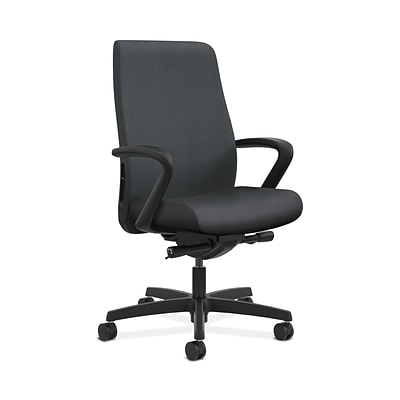 HON HONLWU2FNR10 Endorse Collection Mid-Back Office/Computer Chair, Fixed Arms, Onyx Fabric