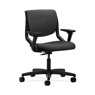 HON HONMT102SX23 Motivate Carbon Fabric Upholster Back Office/Computer Chair, Adj. Arms, Onyx Shell