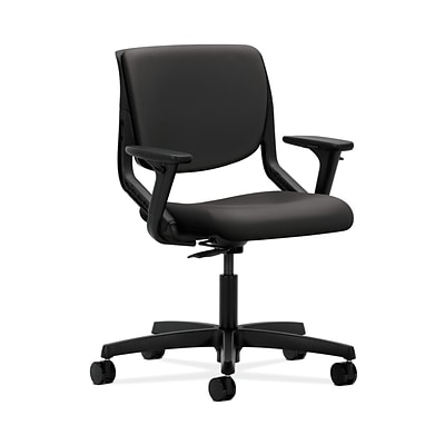 HON HONMT102WP39 Motivate Onyx Shell Charcoal Upholstered Back Office/Computer Chair with Adj. Arms