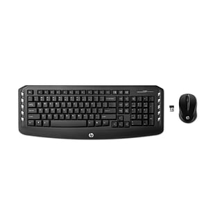 HP LV290AA USB Wireless Classic Desktop Keyboard with Optical Mouse, Black