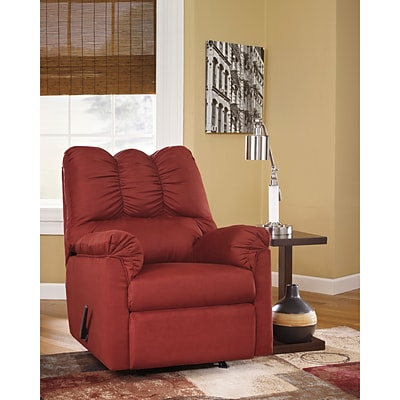 Flash Furniture Signature Design by Ashley Darcy Rocker Recliner in Salsa Fabric (1109RECRED)