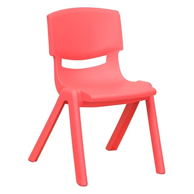 Flash Furniture Plastic Stackable School Chair, 12 Seat Height, Red (1YUYCX001RED)