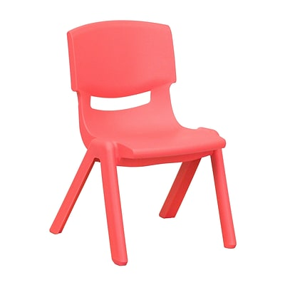 Flash Furniture Plastic Stackable School Chair, 10.5 Seat Height, Red (1YUYCX003RED)