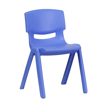 Flash Furniture Plastic Stackable School Chair, 13.25 Seat Height, Blue (1YUYCX004BLUE)