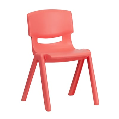 Flash Furniture Plastic Stackable School Chair, Red, 13.25 Seat Height (1YUYCX004RED)