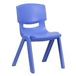 Blue Plastic Stack School Chair w/15.5 Sea