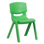 Plastic Stack School Chair w/15.5 Seat Grn