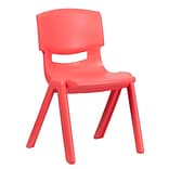 Plastic Stack School Chair Red 15.5 Seat