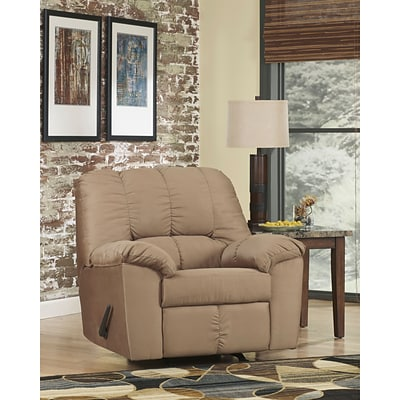 Flash Furniture Signature Design by Ashley Dominator Rocker Recliner in Mocha Fabric (8799RECMOC)