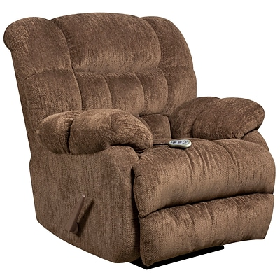 Flash Furniture Massaging Columbia Microfiber Recliner with Heat Control; Mushroom (AMH94605860)