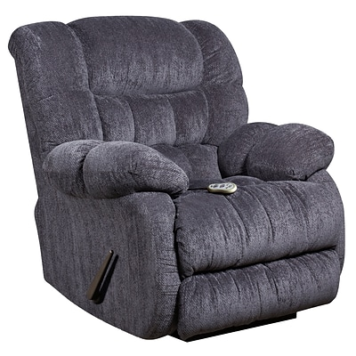 Flash Furniture Massaging Columbia Microfiber Recliner with Heat Control; Indigo Blue (AMH94605861)