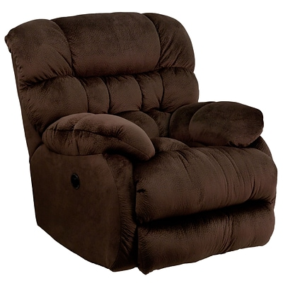 Flash Furniture Contemporary Sharpei Microfiber Power Recliner w/Push Button, Chocolate AMP94605980