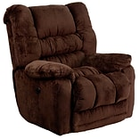 Flash Furniture Contemporary Temptation Microfiber Power Recliner w/Push Button, Mahogany
